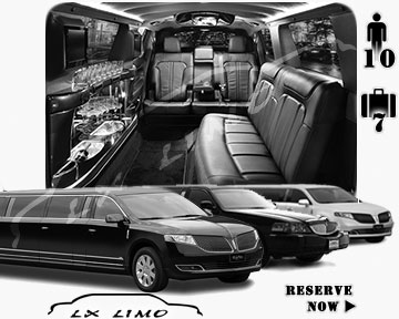 Stretch Limo airport shuttle in Oakland
